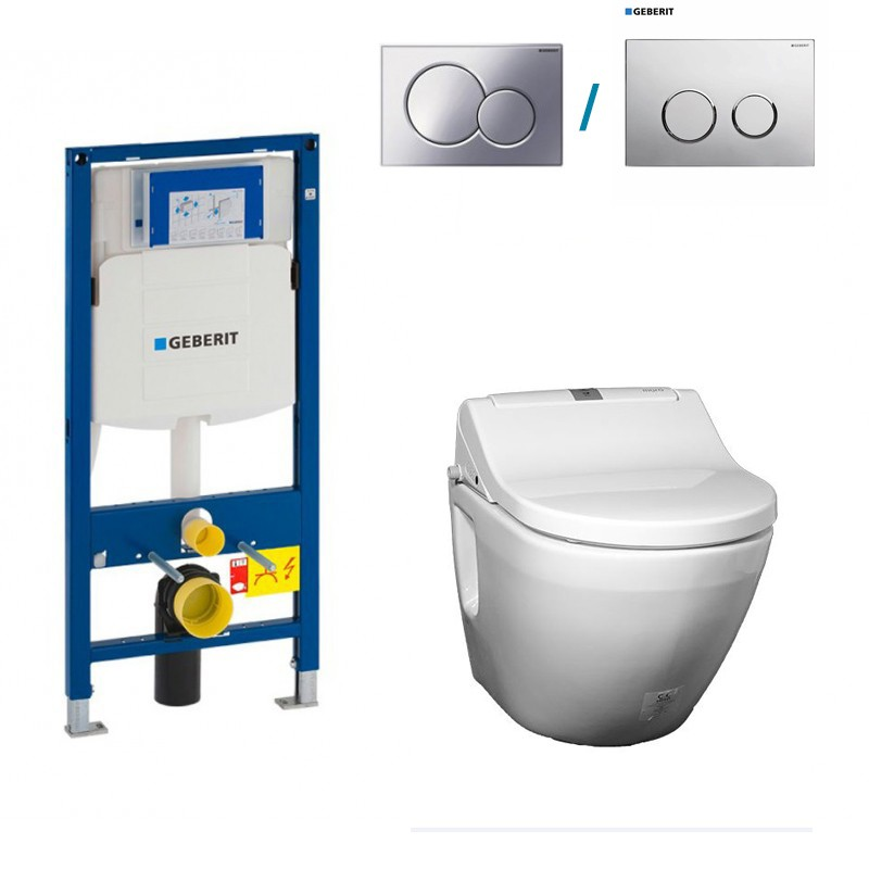 Complete Set With Wall Hung Toilet Toto Nc Cw762y At Its