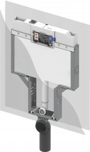TECE box mechanism SINGLE BRICK-WALL CONSTRUCTION CISTERN