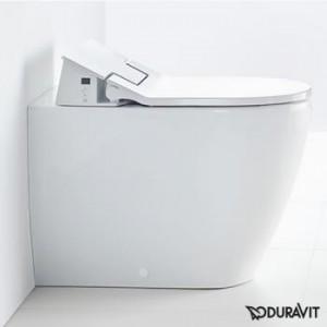 Duravit ME by Starck floor-standing, washdown toilet with SensoWash® Slim toilet seat, set