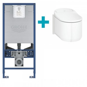 Complete set: New Grohe Sensia Arena 2.0 + Grohe Rapid SLX Cistern Frame