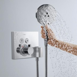 Hansgrohe ShowerSelect concealed thermostat for 2 outlets