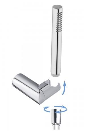 round adjustable shower holder with CAMI handshower