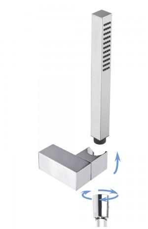 square adjustable shower holder with GIO handshower
