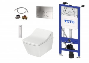 TOTO WASHLET SX Ewater+ Auto flush version + TOTO SP WC + TOTO cistern frame + TOTO Flush plate Complete Set