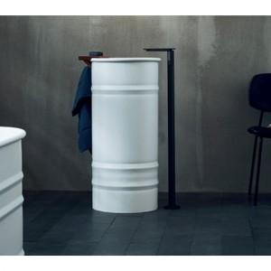 Agape VIEQUES Column washbasin designed for floor drainage