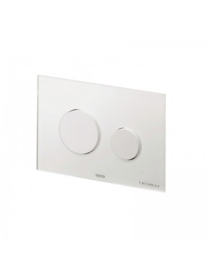 TOTO Push plate in combination with Tece installation frame - Glass / White #E00003