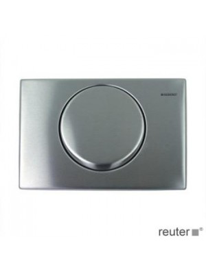 Geberit Delta15 screw-on stainless steel flush plate, for single flush 115101001