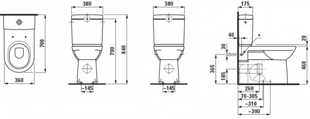 floor-standing shower toilet