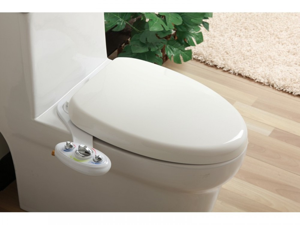Aquarius His & Hers Dual Nozzle Retro Easy Fit Toilet Seat Bidet Fits Any WC Under Seat, 2 year WTY