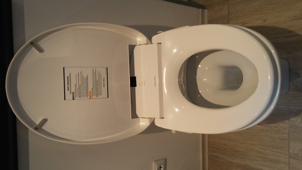 """High Toilet Seat Height: Coway Ba13-BE Washlet + Sanitosco Raised Height 18,5""""/47cm"""