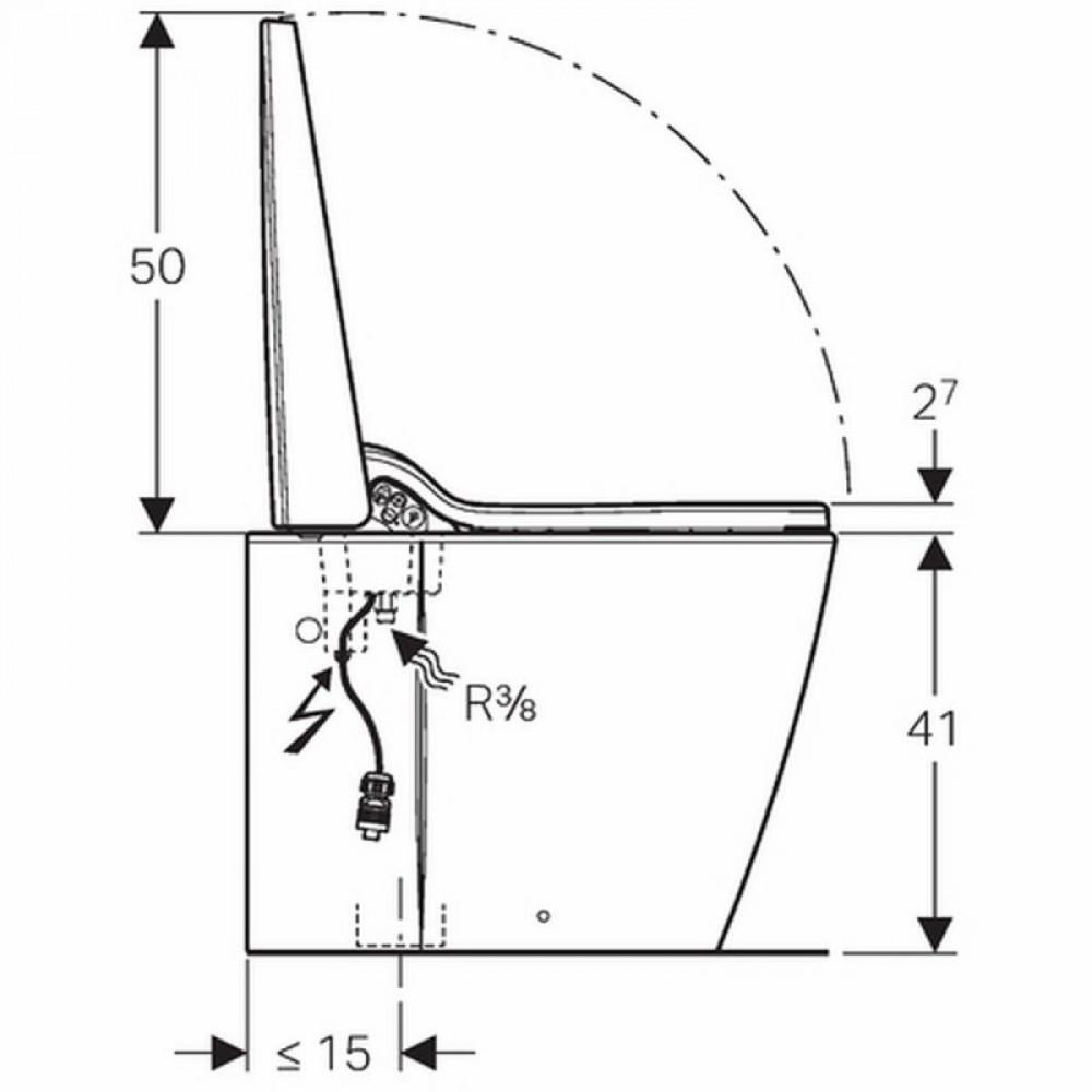 Geberit AquaClean Sela  dimensions , floor-standing 146170111
