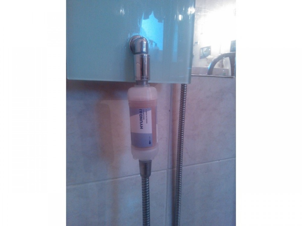 shower water softening filter