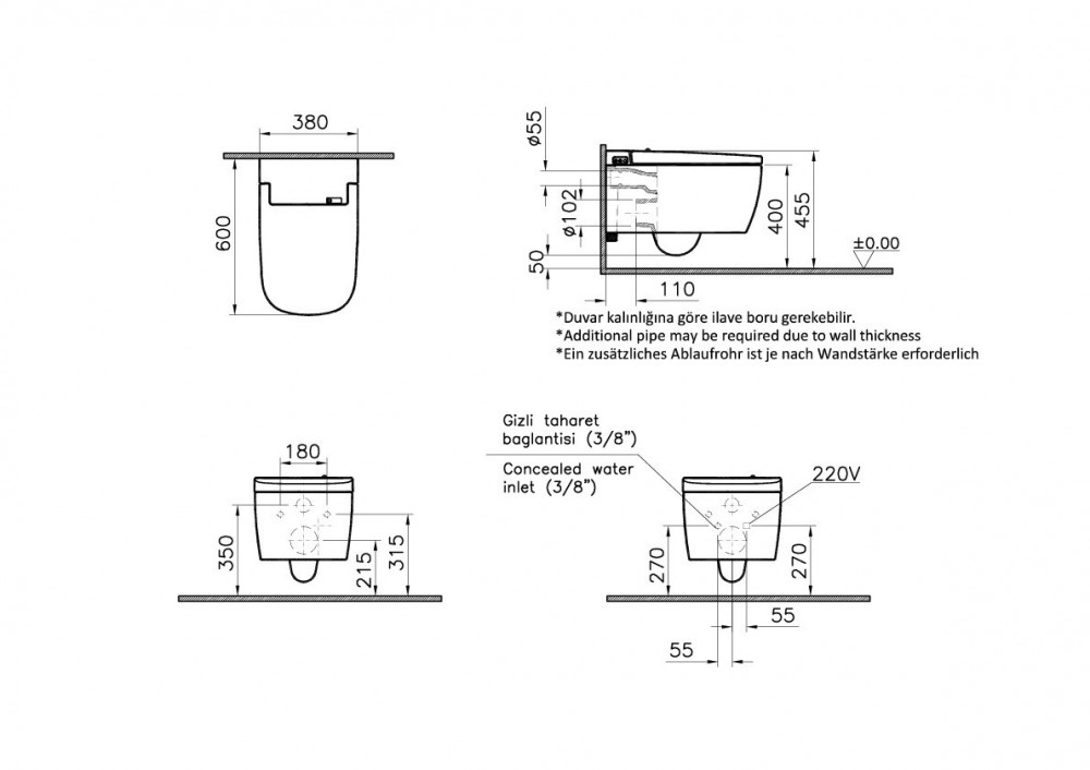 measurements vitra v care comfort