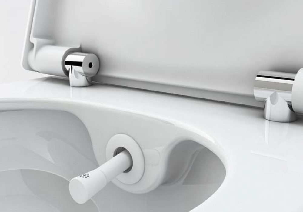 hot and cold non -electric toilet shower bidet seat