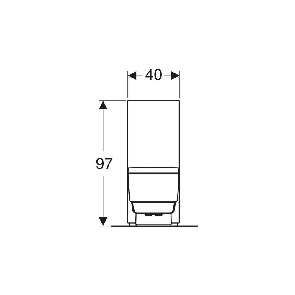 geberit aquaclena mera classic back-to-wall floor-standing