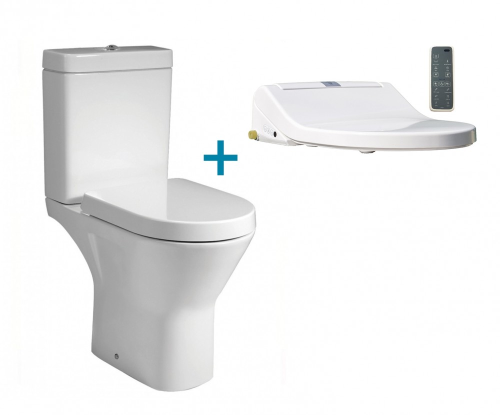 Combination Comfort Height Rimless Toilet + Maro D'Italia
