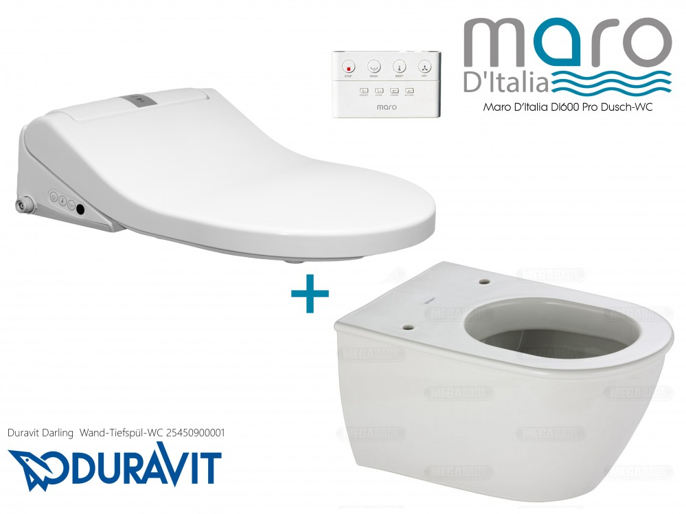 maro d'italia di600 duravit toilet pan combination toilet shower