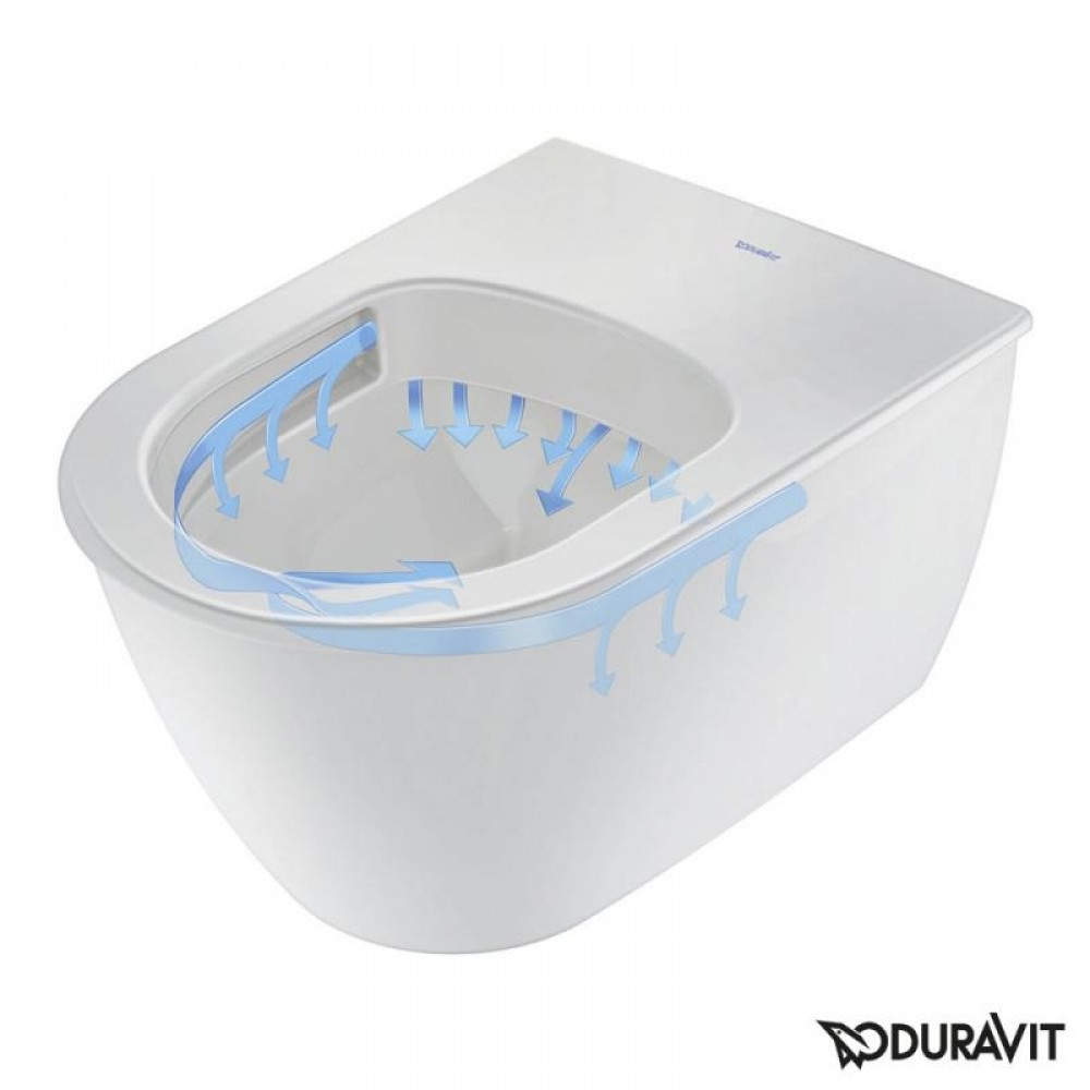 Darling New wall-mounted, washdown toilet, rimless