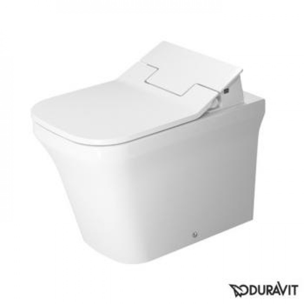 duravit p3 comforts floor standing washdown toilet rimless with sensowash slim toilet seat. Black Bedroom Furniture Sets. Home Design Ideas