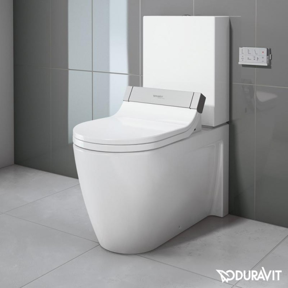 Duravit Starck 2 floor-standing, close-coupled washdown toilet with ...