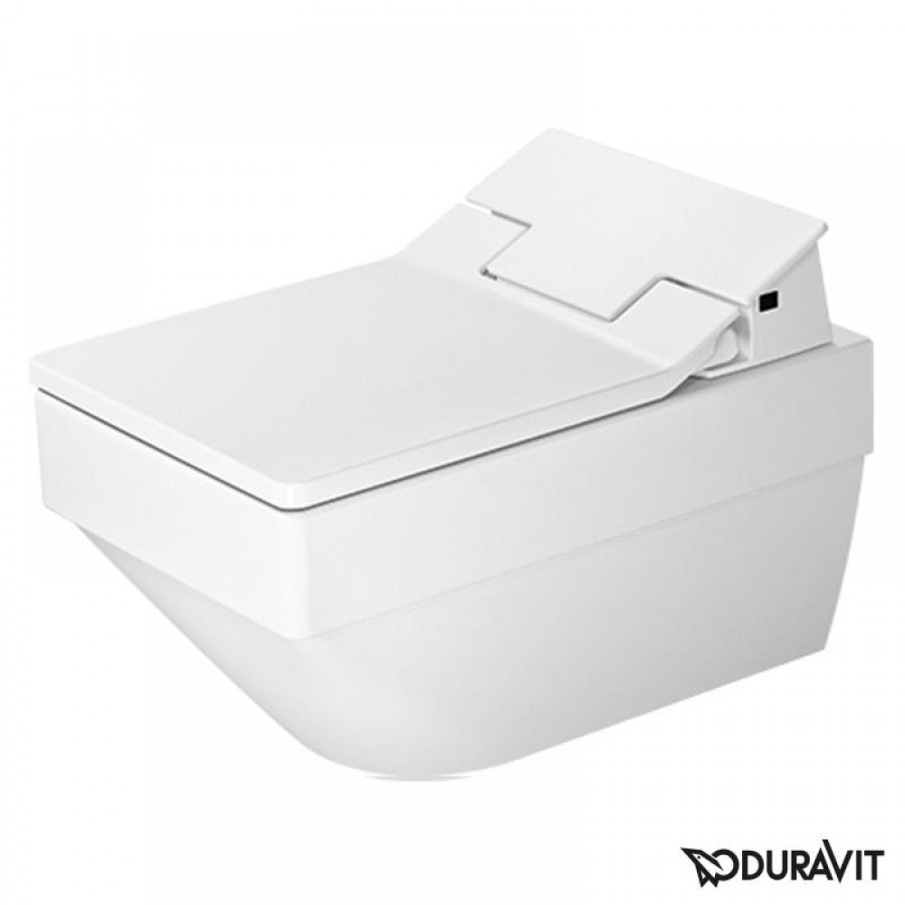 duravit vero air wall mounted washdown toilet rimless with sensowash slim seat set white tooaleta. Black Bedroom Furniture Sets. Home Design Ideas