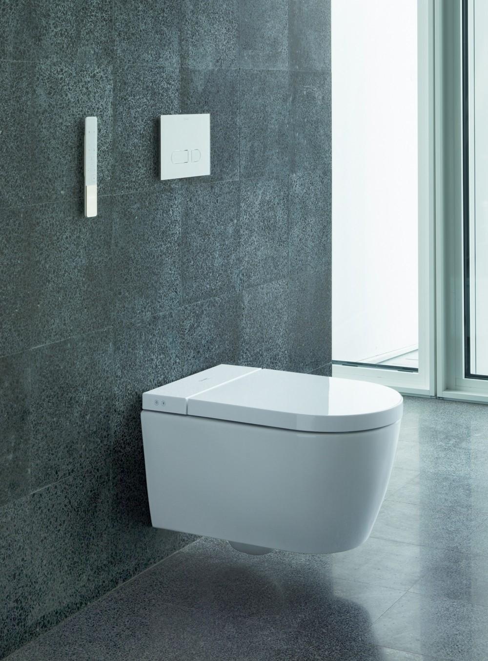 rimless wall-hung toilet duravit sensowash starck f