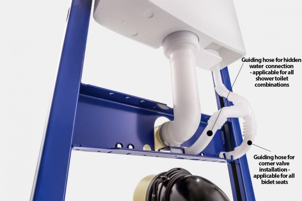 Shower toilet water installatoin geberit duofix bidet seat