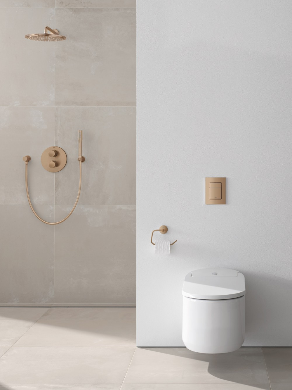 grohe sensia arena shower toilet complete system gold uk