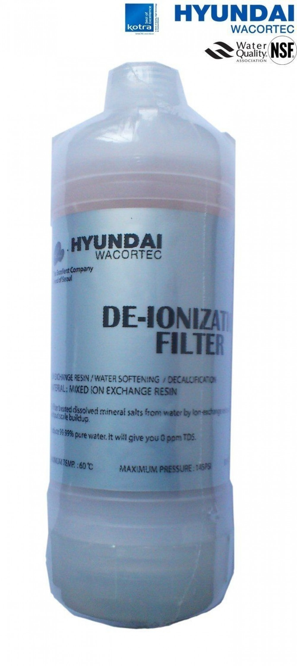 hyundai bidet seat water filter