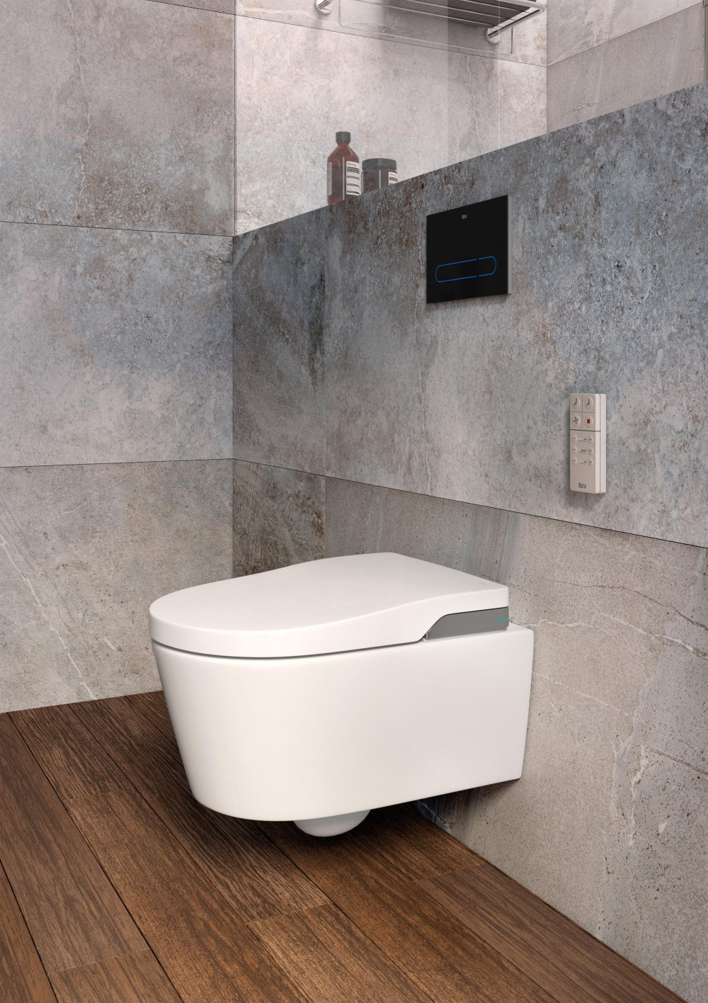 toilet bidet shower roca in wash