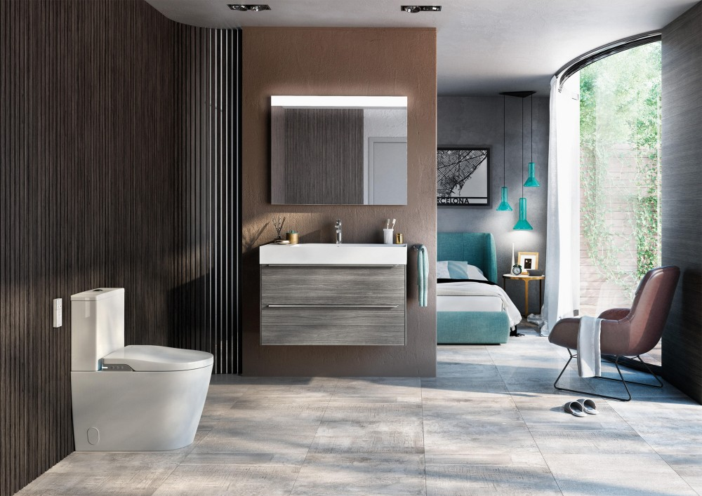 roca close coupled shower toilet bidet