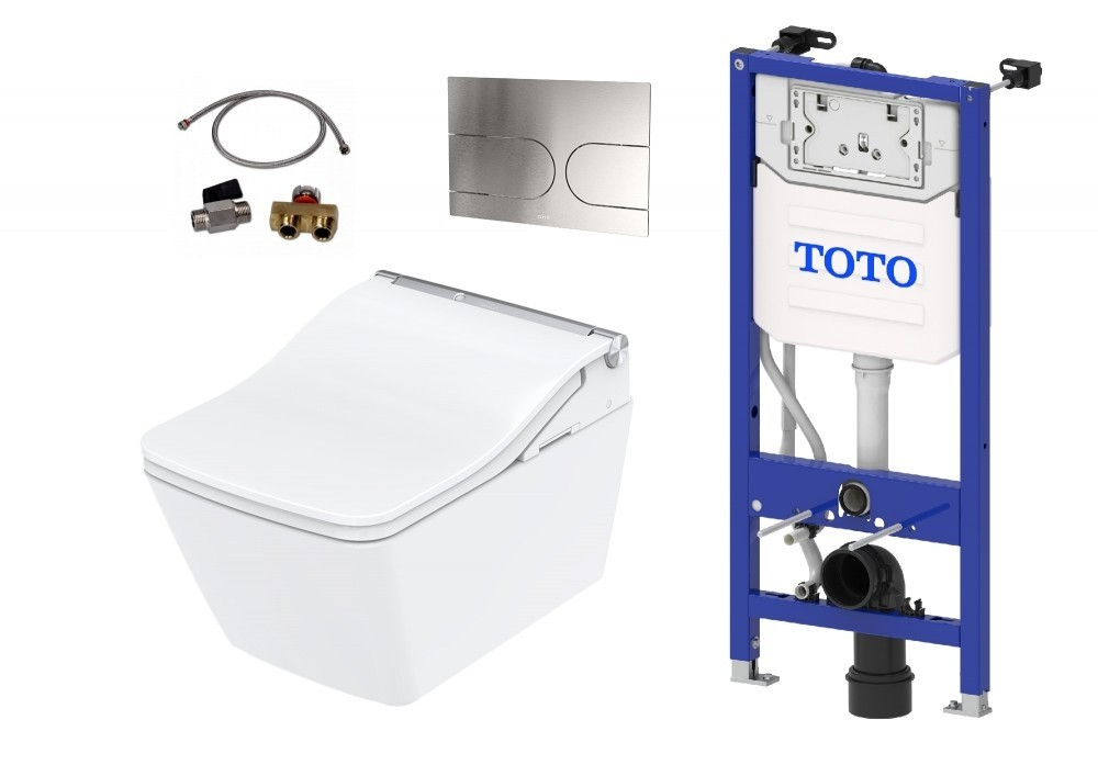 TOTO washlet sw auto flush inkl. remote control dryer function