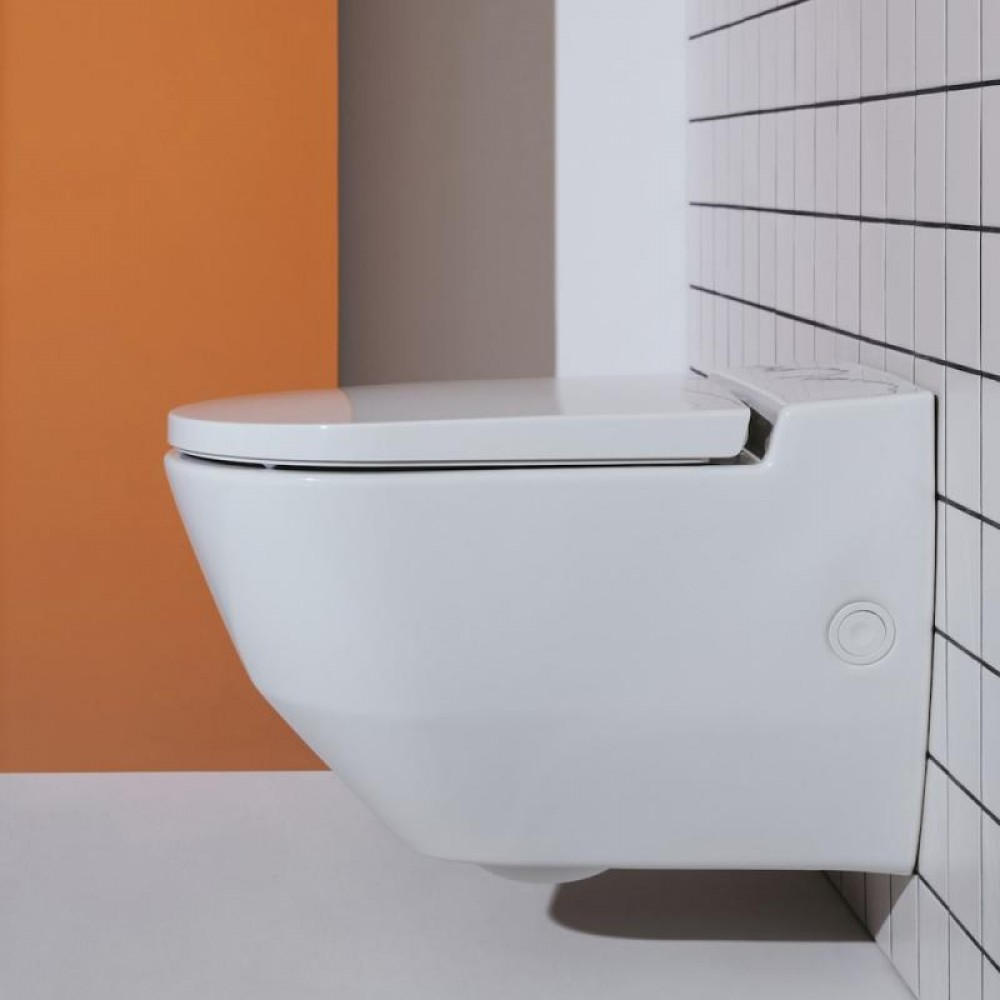 Laufen Cleanet Navia shower toilet, complete set, with opening on side for external water connections