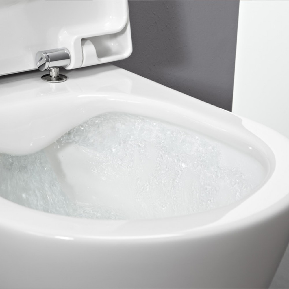 Laufen pro wall-mounted, compact washdown toilet L: 49 W: 36 cm, rimless white 8209650000001