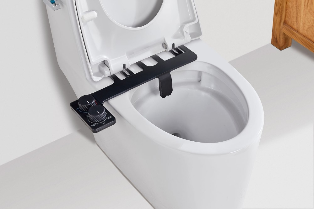 MARO CH21 - Matt Black Hot and Cold Water Non-Electric DIY Bidet Toilet Attachment
