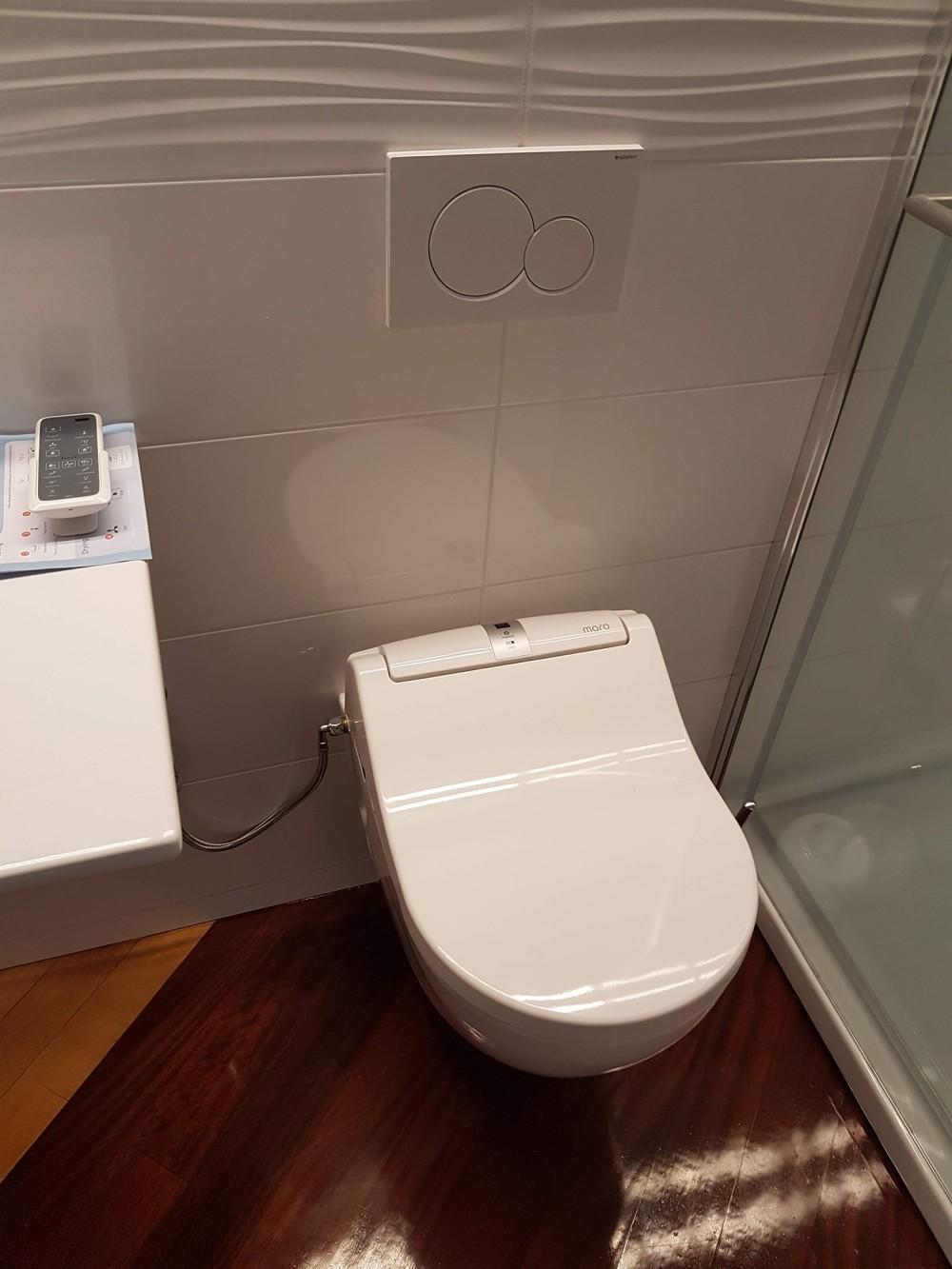 maro di600 with toto toilet rimless pan