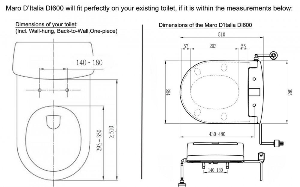 maro d'italai di500 heated toilet seat