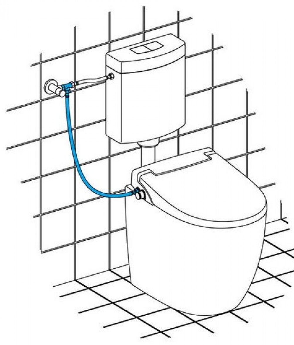 toilet bidet close-coupled one piece toilet water connection options
