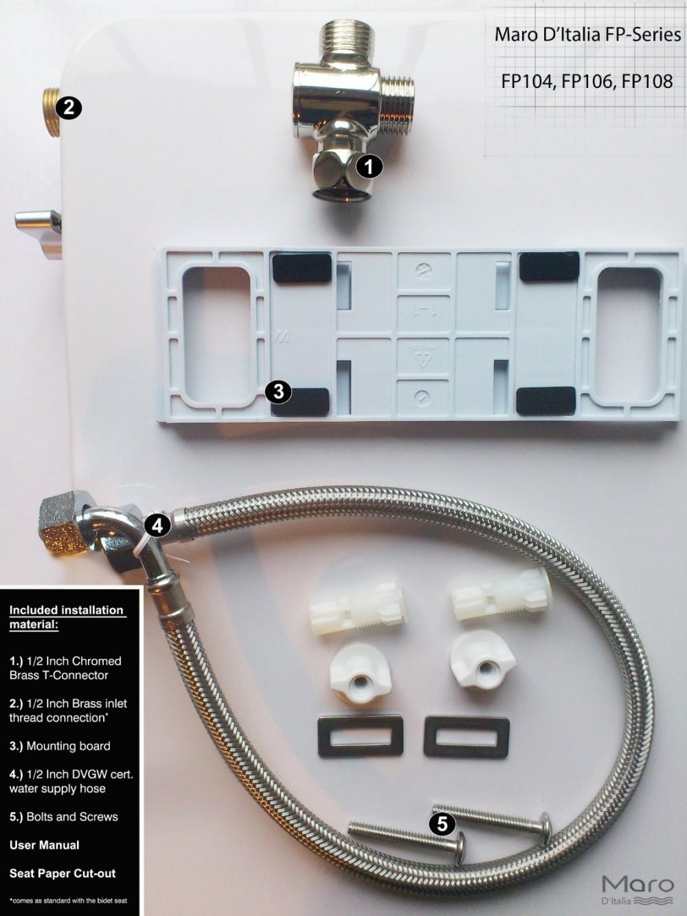 maro fp104 installation material