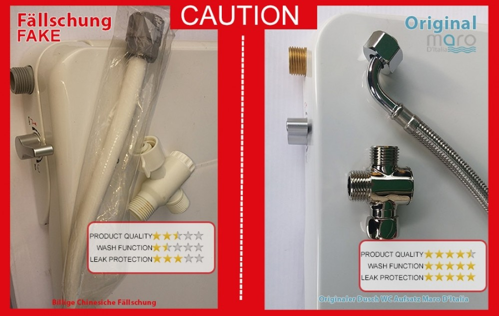 warning caution maro fp series bidet washlet seat uk