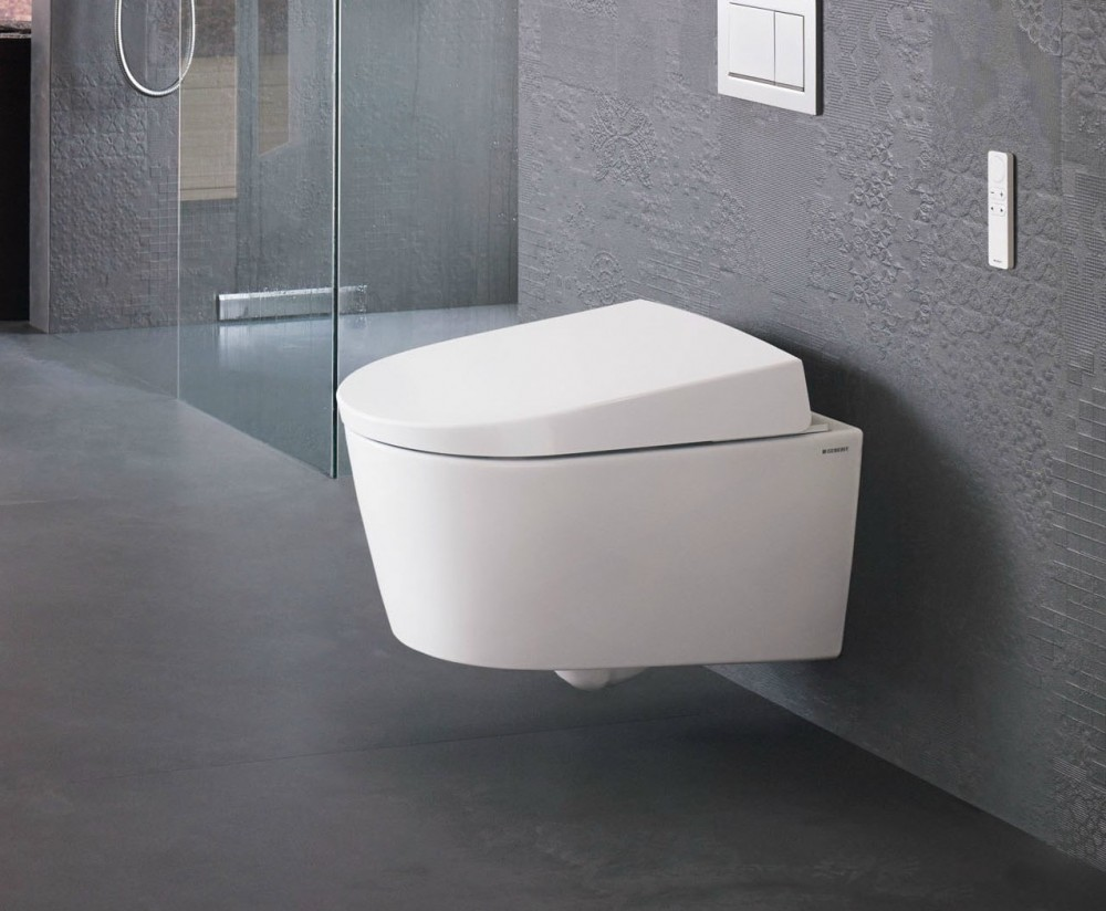 geberit aquaclean sela shower toilet complete wall. Black Bedroom Furniture Sets. Home Design Ideas