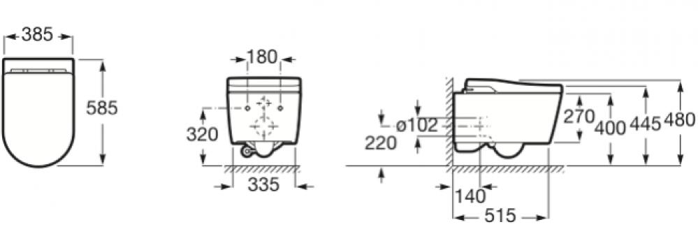 Roca In-Wash Inspira In-Tank specifications