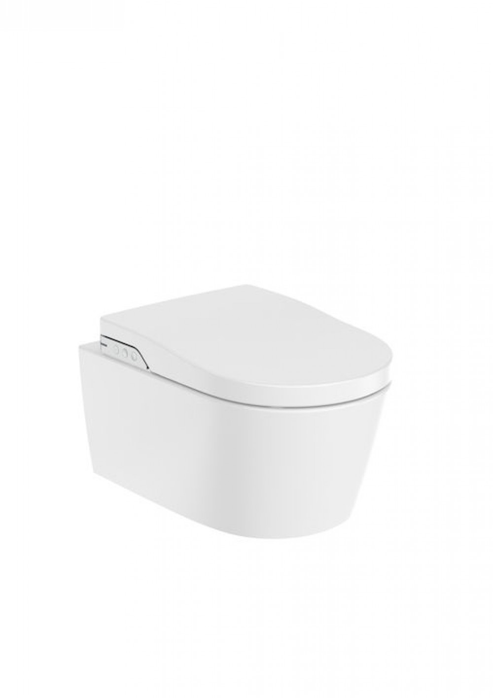 Rimless wall-hung smart toilet with integrated tank