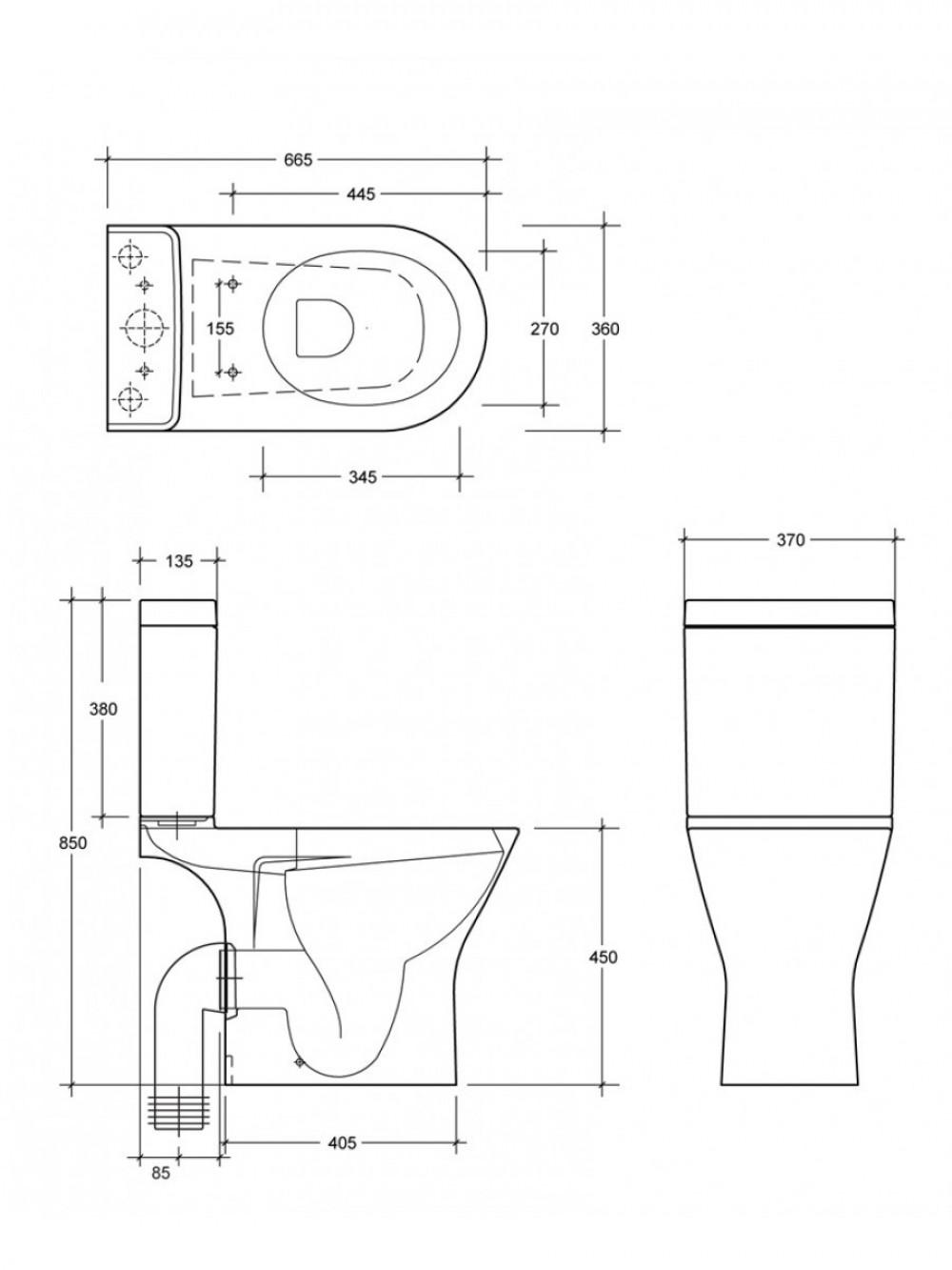 comfort height combination shower toilet