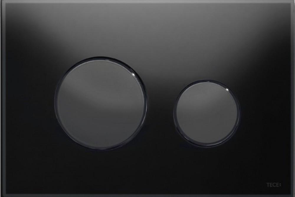 TECE loop for dual flush black / Glass