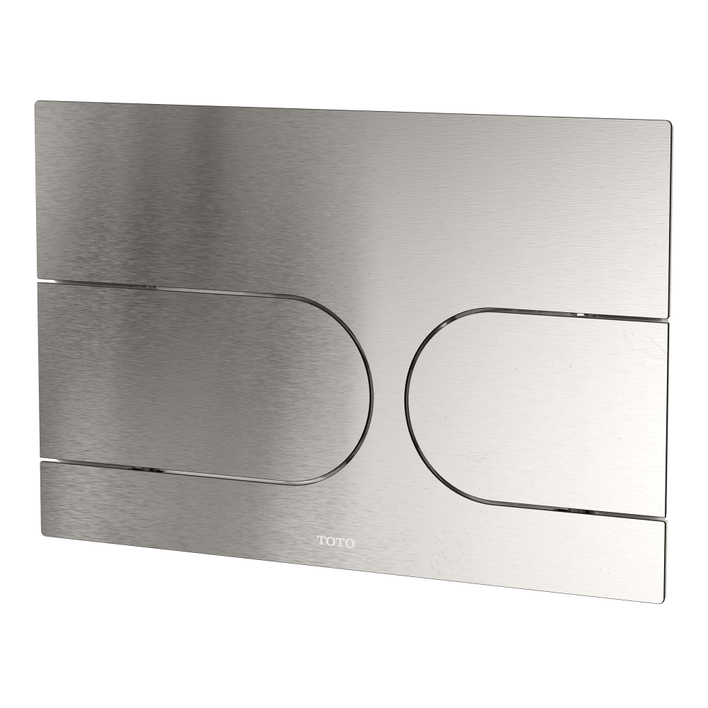 stainless steel brushed steel toto flush plate
