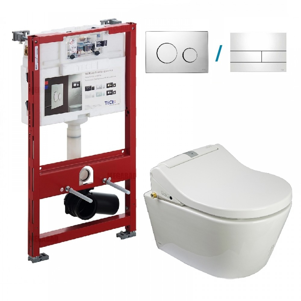 Complete set with Wall-hung toilet TOTO NC CW762Y at its core Tooaleta