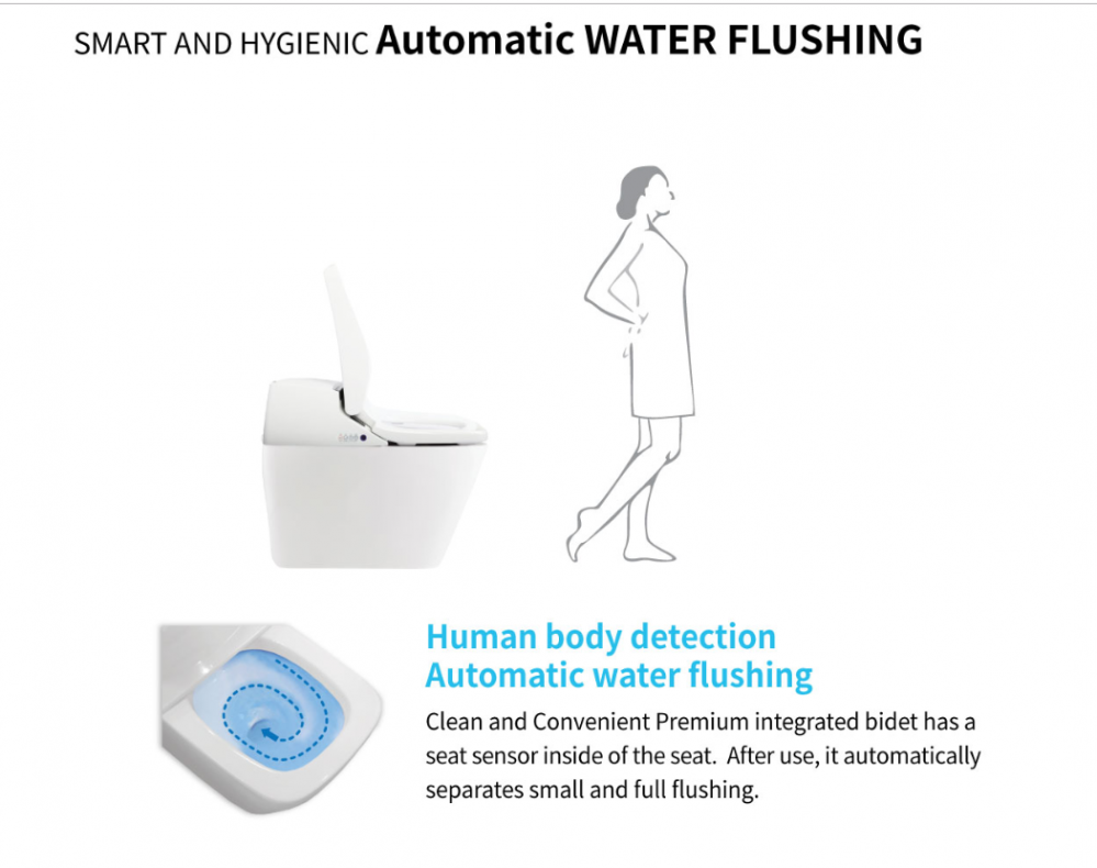 automatic flush japanese toilet bidet seat