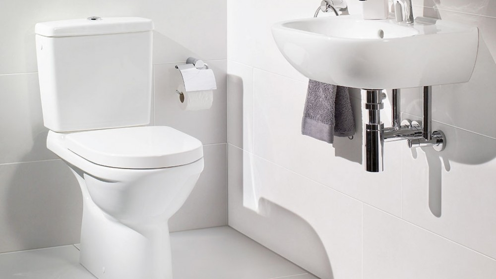 Villeroy & Boch O.novo floor-standing, close-coupled washdown rimless uk wras