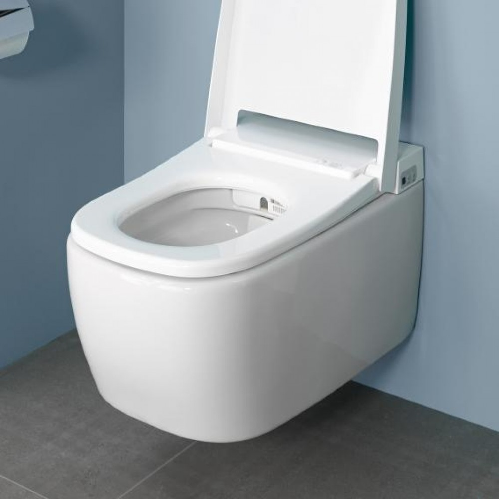 rimless VitrA V-care 1.1 Comfort bidet combination